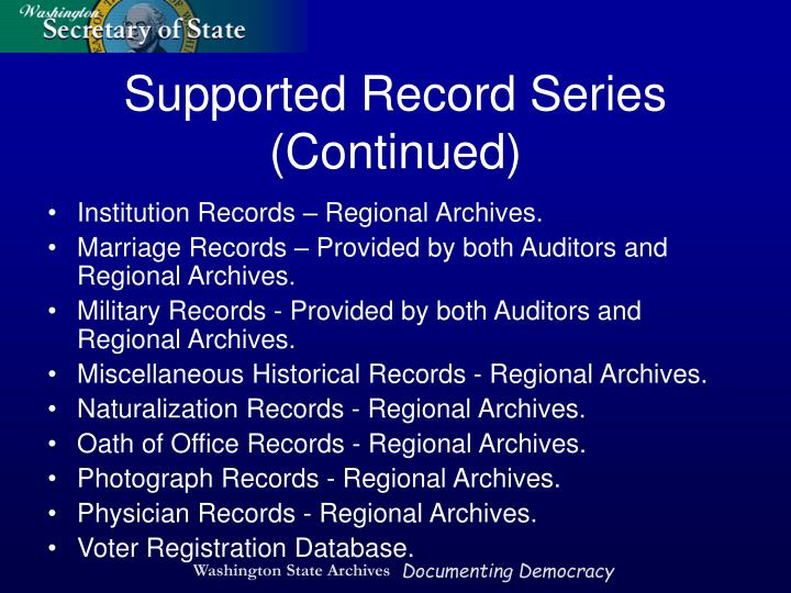 Institution Records – Regional Archives.