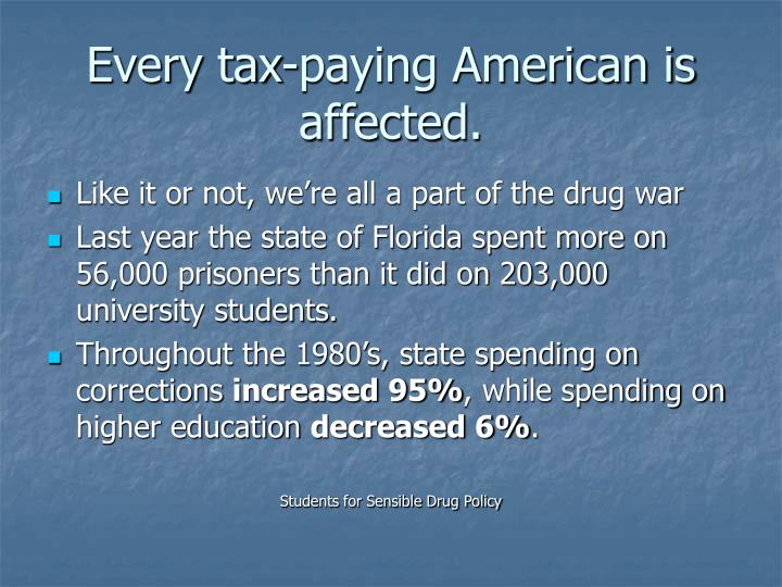 Every tax-paying American is affected.