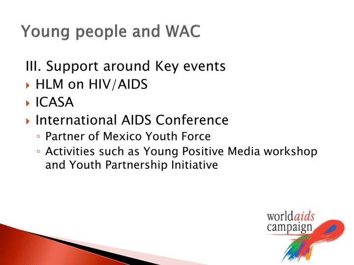 Young people and WAC