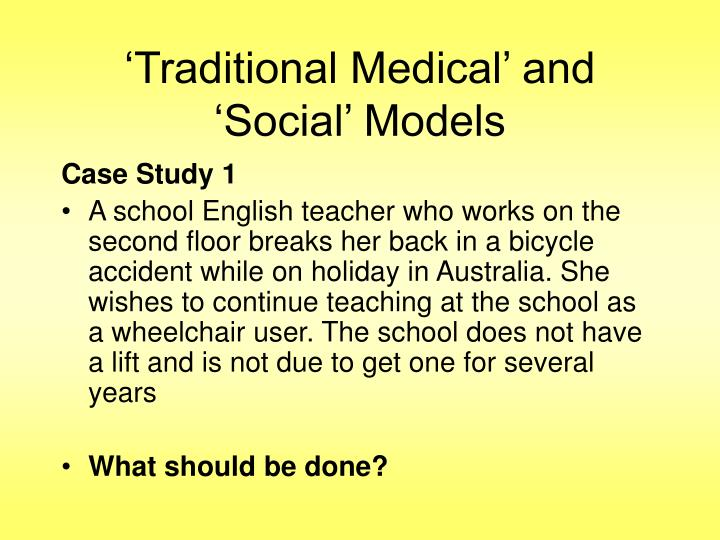 'Traditional Medical' and