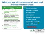 what are formative assessment tools and professional resources