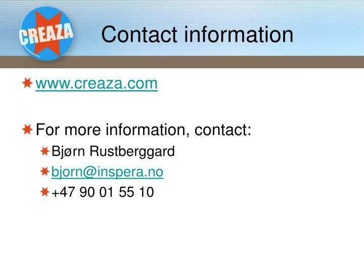 Contact information