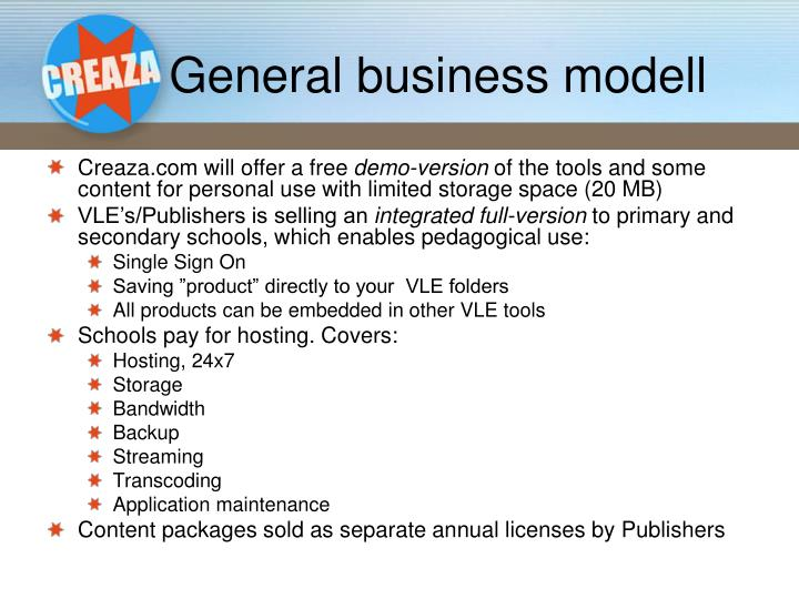 General business modell