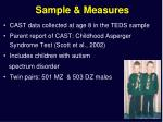 sample measures