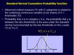 standard normal cumulative probability function