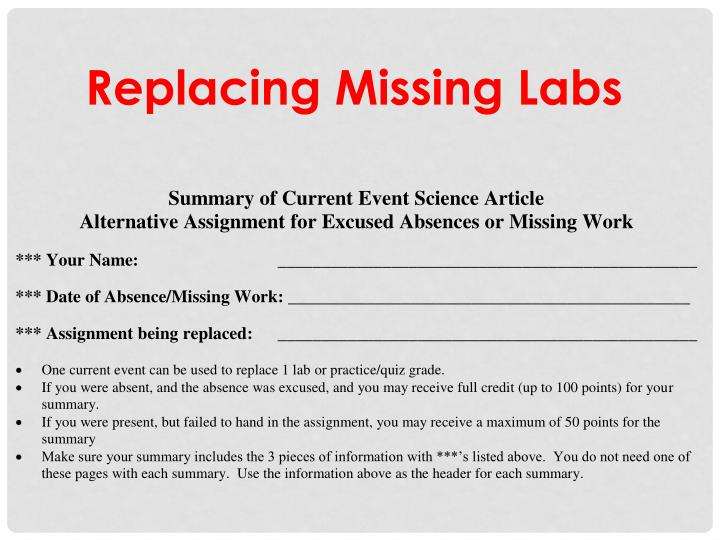 Replacing Missing Labs