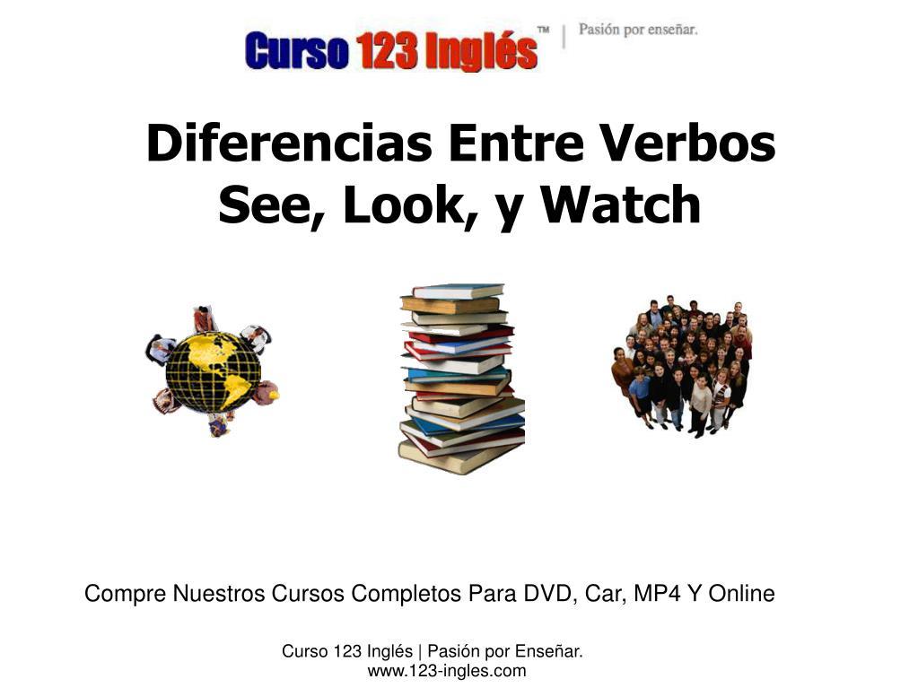 Ppt Diferencias Entre Verbos See Look Y Watch Powerpoint Presentation Id 6081092
