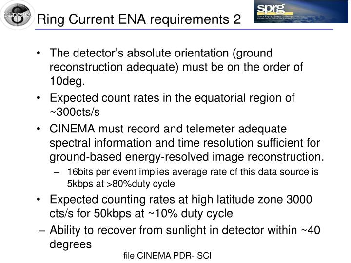 Ring Current ENA requirements 2
