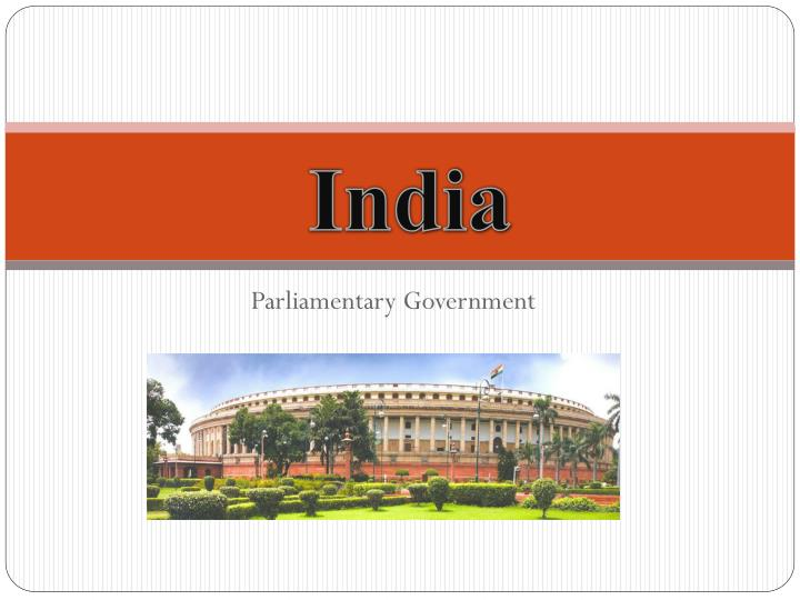 parliamentary government n.