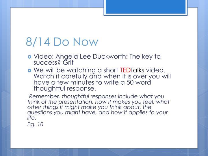 8/14 Do Now