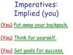 imperatives implied you