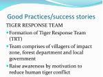 good practices success stories