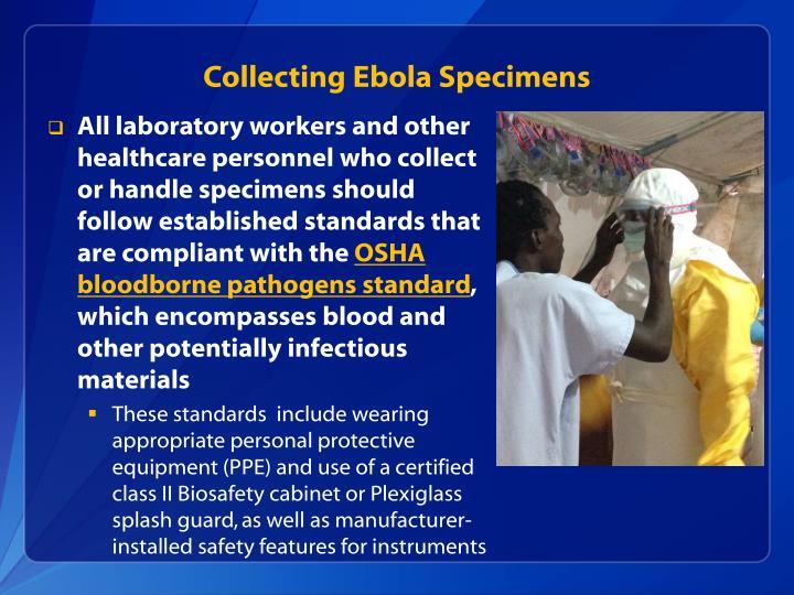 Collecting Ebola Specimens