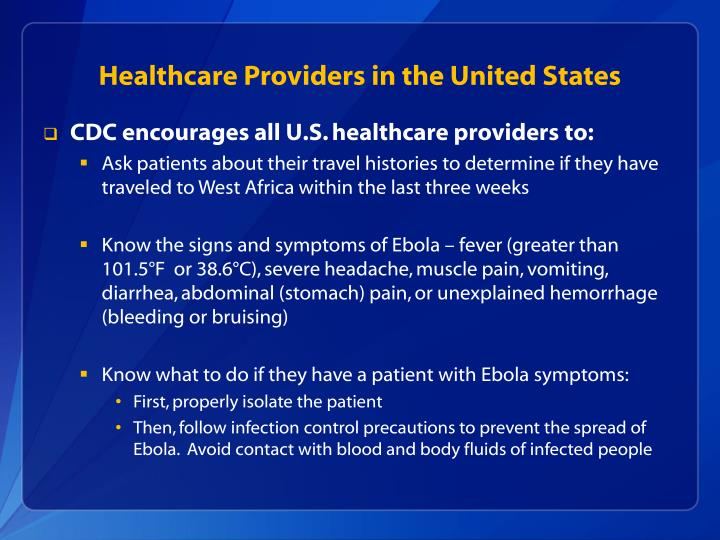 Healthcare Providers in the United States