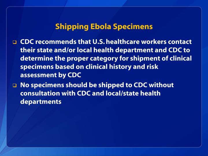 Shipping Ebola Specimens