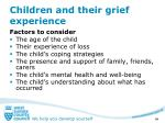 children and their grief experience
