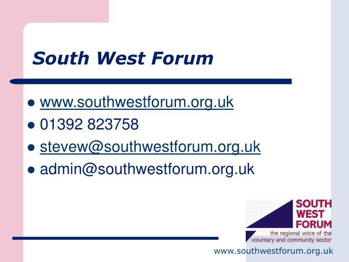 South West Forum