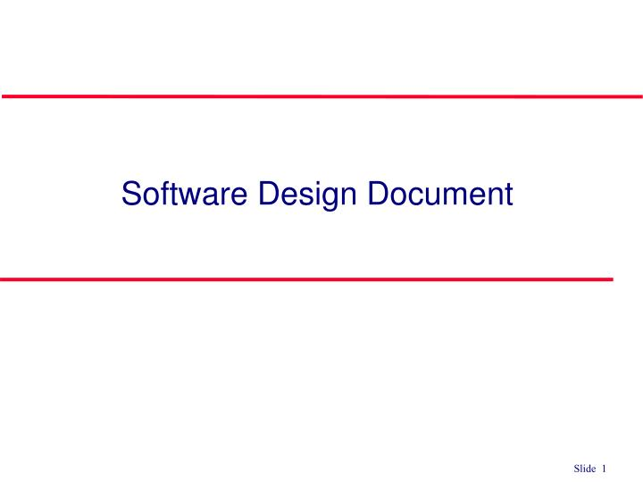 Ppt Software Design Document Powerpoint Presentation Free Download Id 6081754