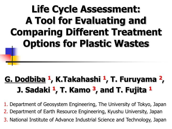 Life Cycle Assessment: