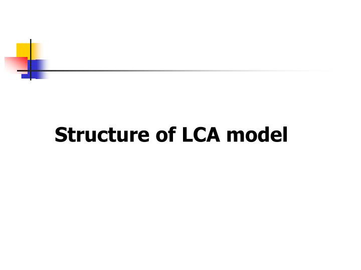 Structure of LCA model