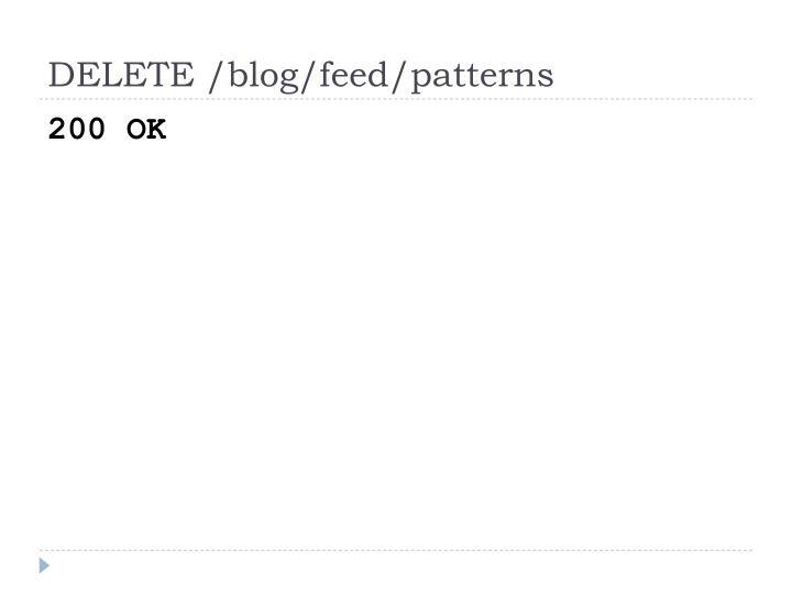 DELETE /blog/feed/patterns