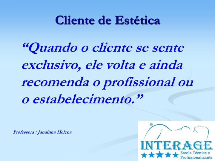 Cliente de Estética