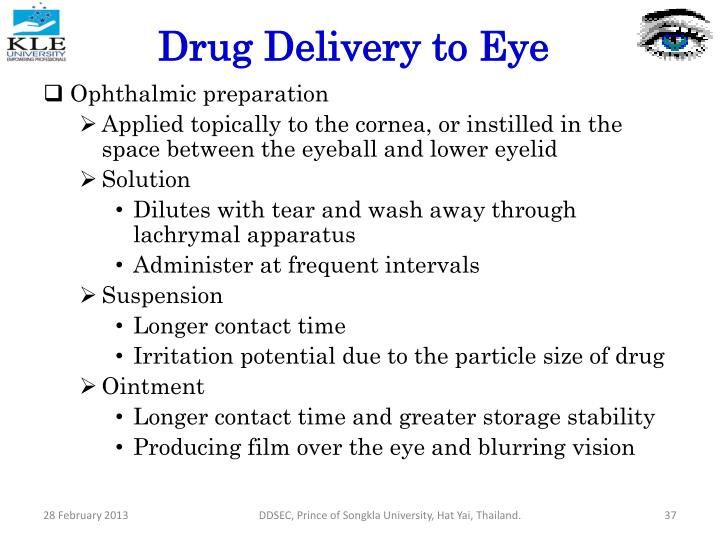 Drug Delivery to Eye