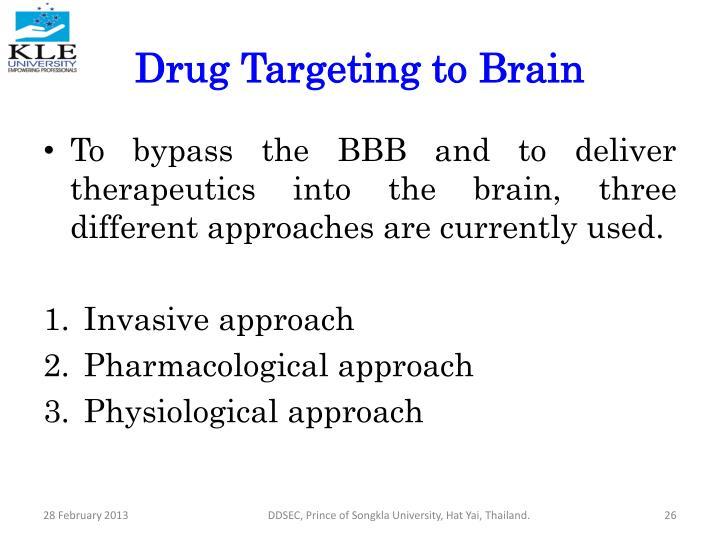 Drug Targeting to Brain
