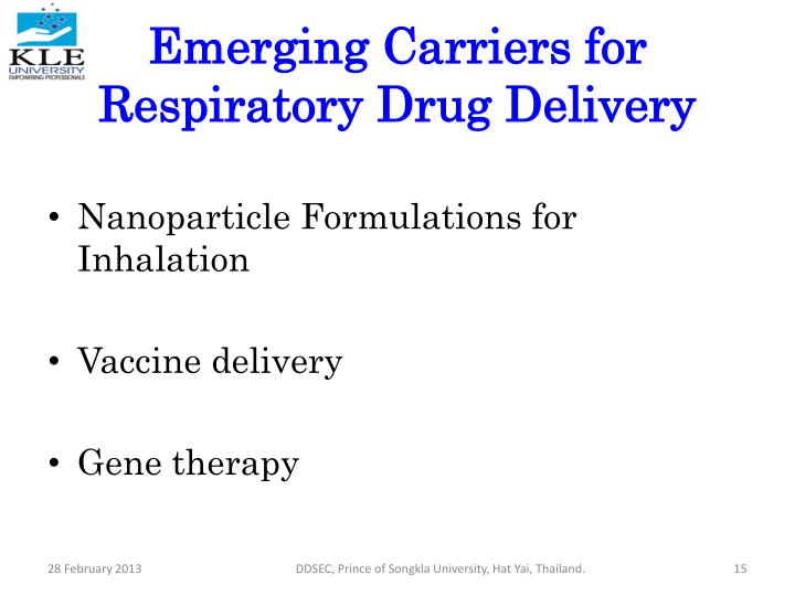 Emerging Carriers for Respiratory Drug Delivery