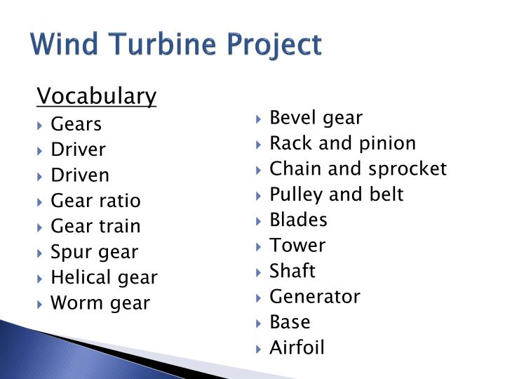 Wind turbine project1