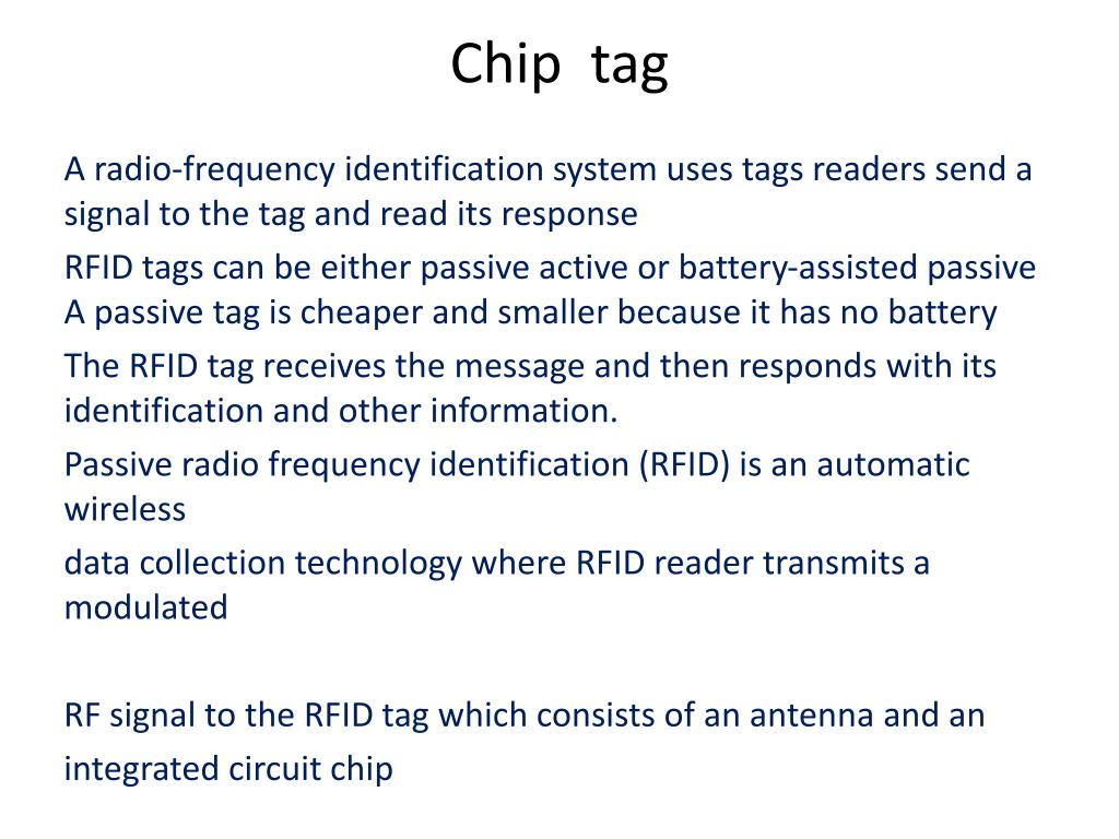 PPT - Chip tag PowerPoint Presentation - ID:6082536