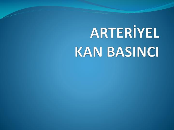 ARTERİYEL