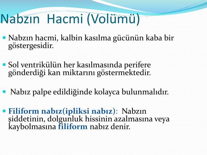 Nabzın  Hacmi (Volümü)