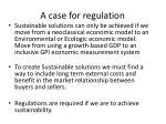 a case for regulation