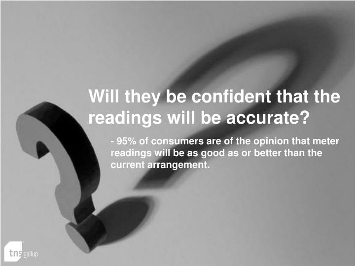 Will they be confident that the readings will be accurate?
