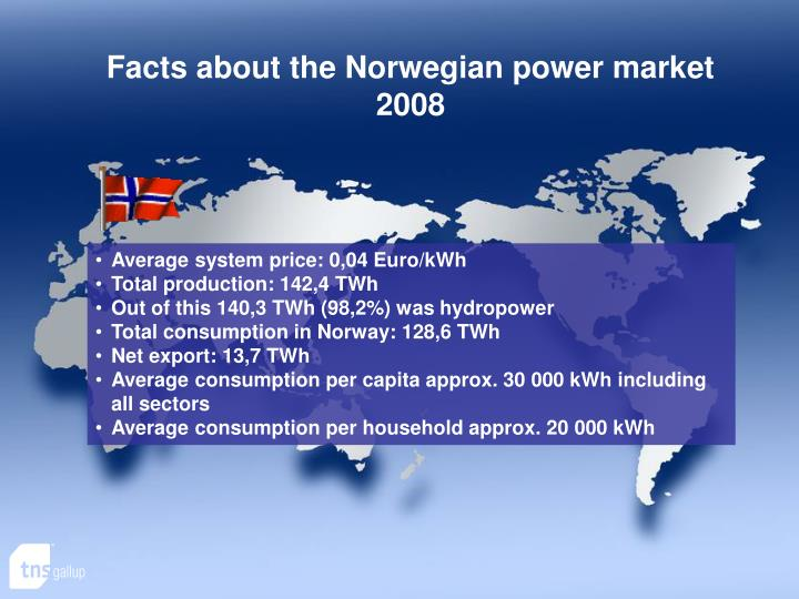 Facts about the Norwegian power market