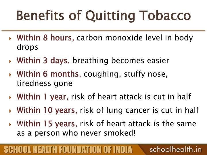 Benefits of Quitting Tobacco