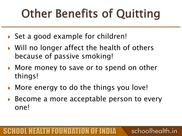 Other Benefits of Quitting