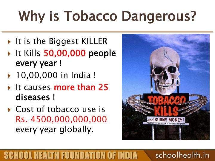Why is Tobacco Dangerous?