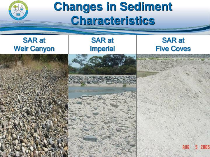 Changes in Sediment Characteristics