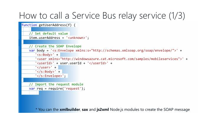 How to call a Service Bus relay service (1/3)