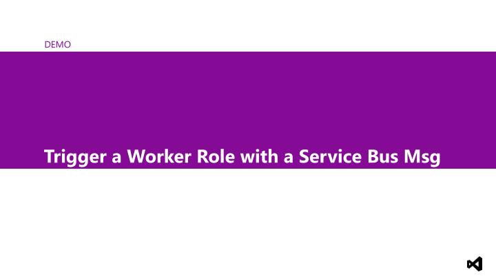 Trigger a Worker Role with a Service Bus Msg