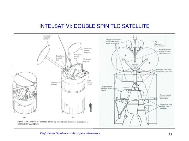 INTELSAT VI: DOUBLE SPIN TLC SATELLITE