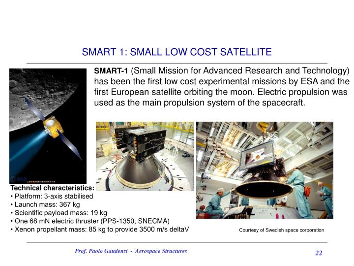 SMART 1: SMALL LOW COST SATELLITE