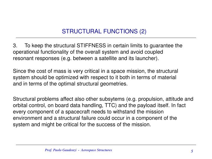 STRUCTURAL FUNCTIONS (2)