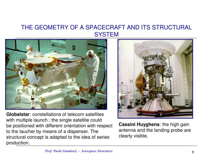 THE GEOMETRY OF A SPACECRAFT AND ITS STRUCTURAL SYSTEM