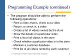 programming example continued