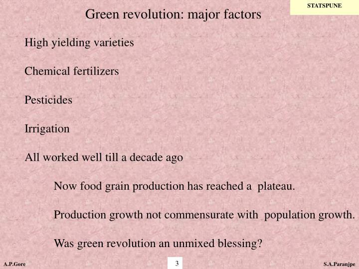 Green revolution major factors