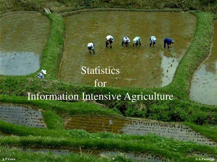 Statistics for information intensive agriculture
