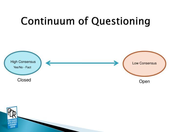 Continuum of Questioning